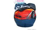 Jarní dětská čepička New Baby auto modrá